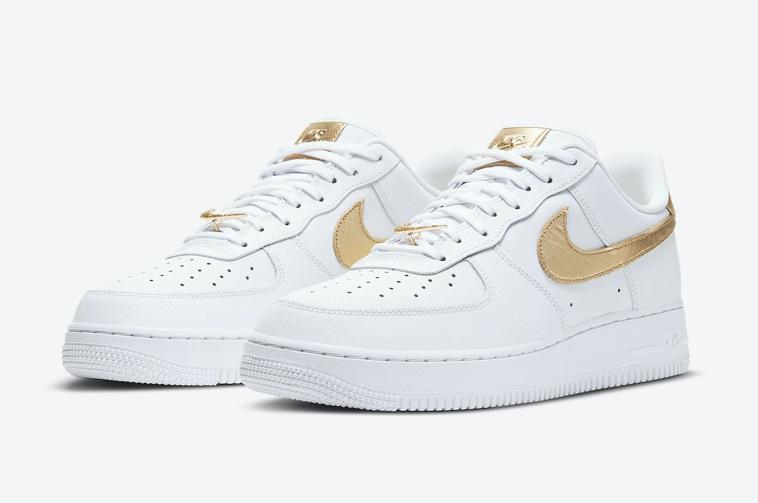 Nike Air Force 1 Low White Gold DC2181-100 Release Date Info