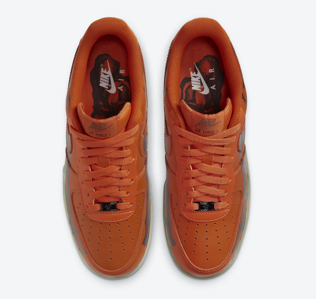 Nike Air Force 1 Orange Skeleton CU8067-800 Release Date