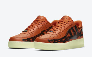 Nike Air Force 1 Orange Skeleton CU8067-800 Release Date