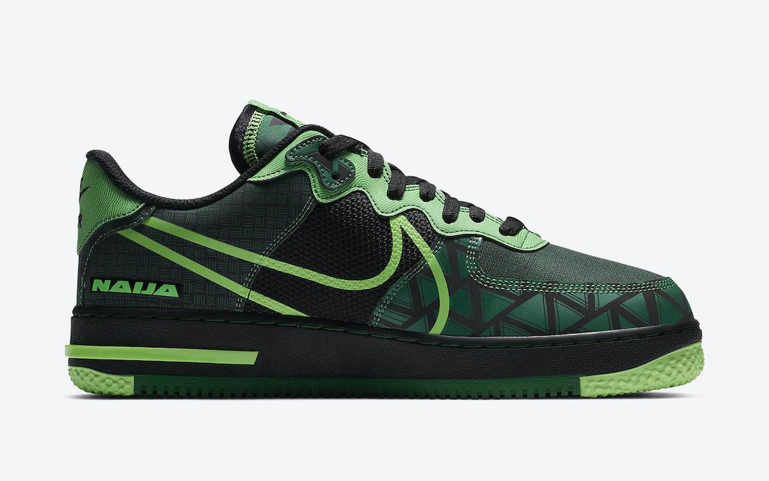 Nike Air Force 1 React Naija CW3918-001 Release Date Info