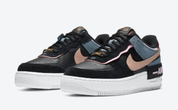 Nike Air Force 1 Shadow Black Light Arctic Pink CU5315-001 Release Date Info