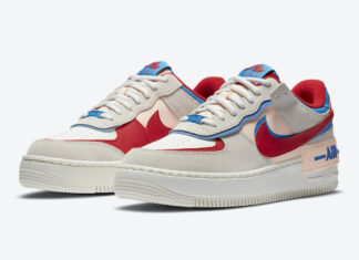 Nike Air Force 1 Shadow Sail University Red Photo Blue CU8591-100 Release Date Info
