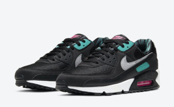 Nike Air Max 90 Black Teal Pink Palm Trees DC0958-001 Release Date Info