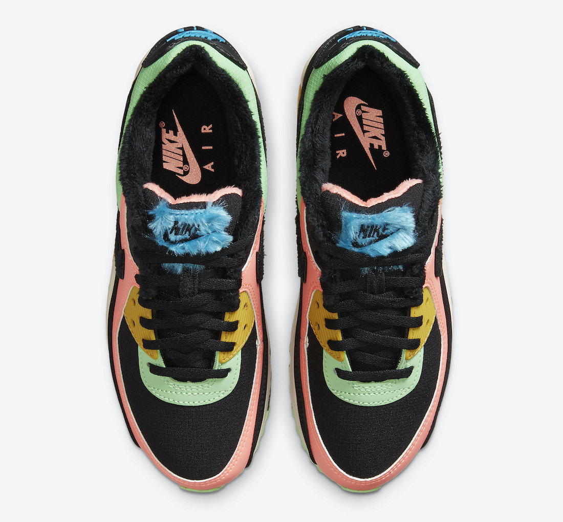 Nike Air Max 90 Multi-Color Fur CT1891-600 Release Date Info