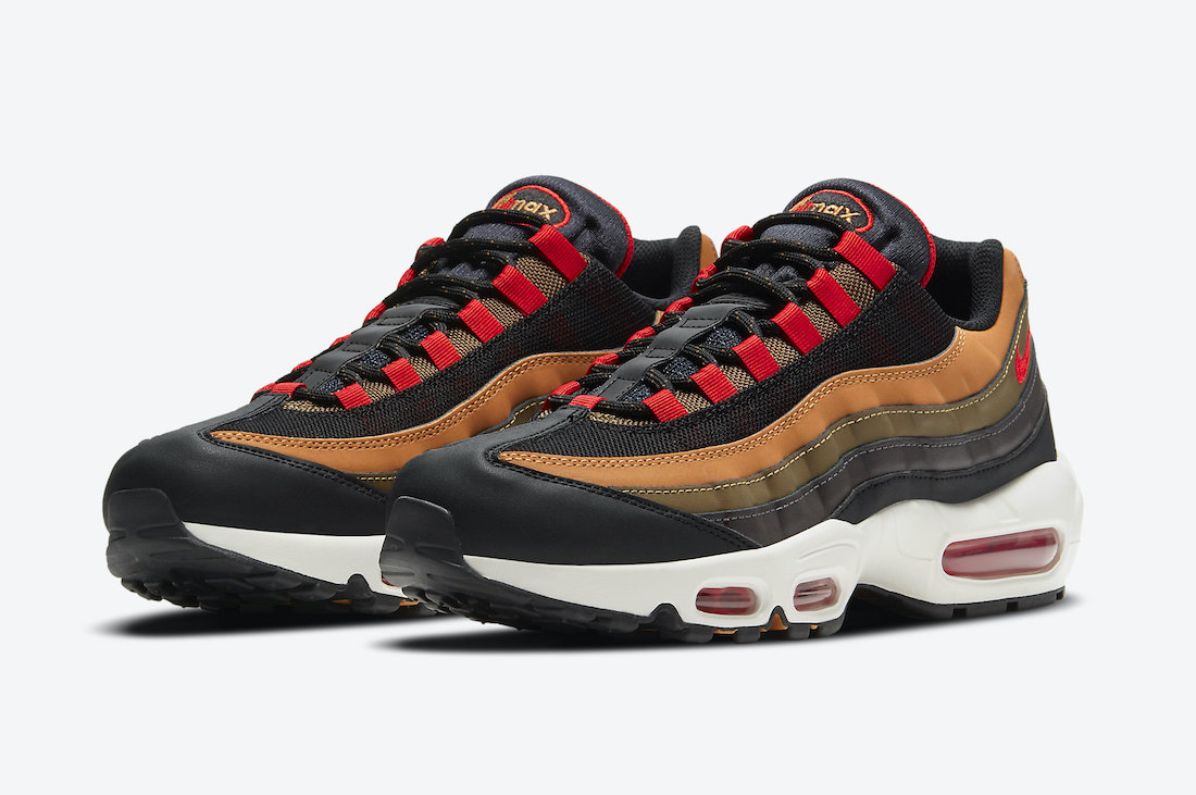 Nike Air Max 95 Orange Tan Black Brown Red CT1805-200 Release Date Info