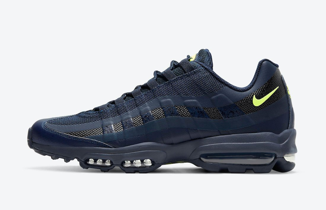 Nike Air Max 95 Ultra Navy Volt DC1934-400 Release Date Info