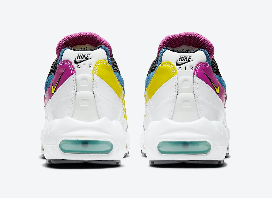 Nike Air Max 95 White Black Navy Purple Yellow DC1862-100 Release Date Info