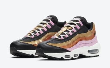 Nike Air Max 95 WMNS Gold Bronze Pink CU8080-800 Release Date Info