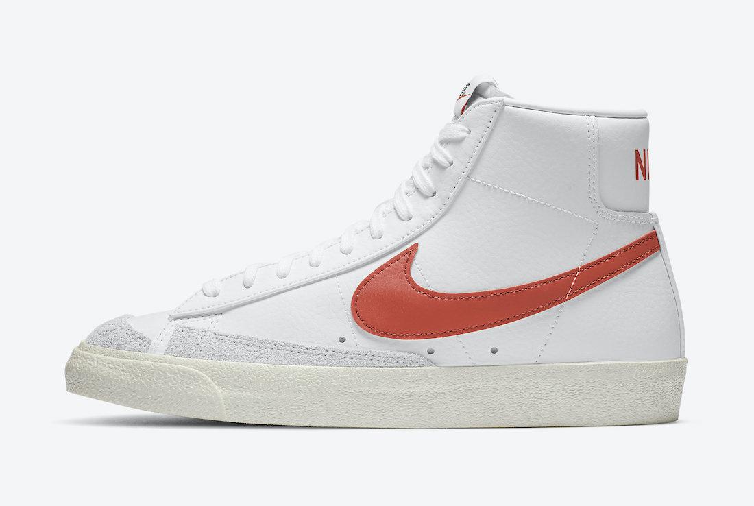 Nike Blazer Mid 77 Vintage White Mantra Orange BQ6806-110 Release Date Info