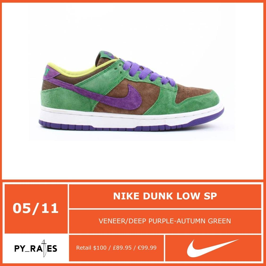 Nike Dunk Low Veneer Release Date
