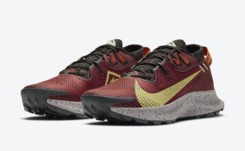 Nike Pegasus Trail 2 Burgundy Yellow Black CK4305-600 Release Date Info
