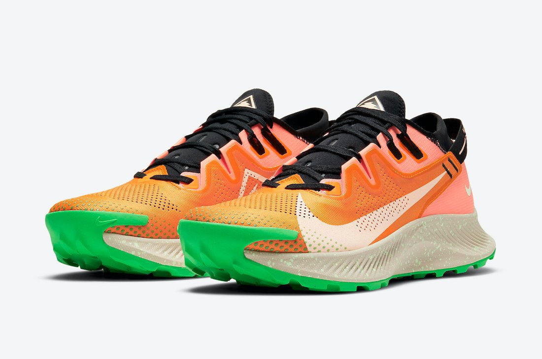 Nike Pegasus Trail 2 Orange Green CK4305-800 Release Date Info