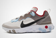 Nike React Element 55 Beige Brown Red Blue CU1466-001 Release Date Info