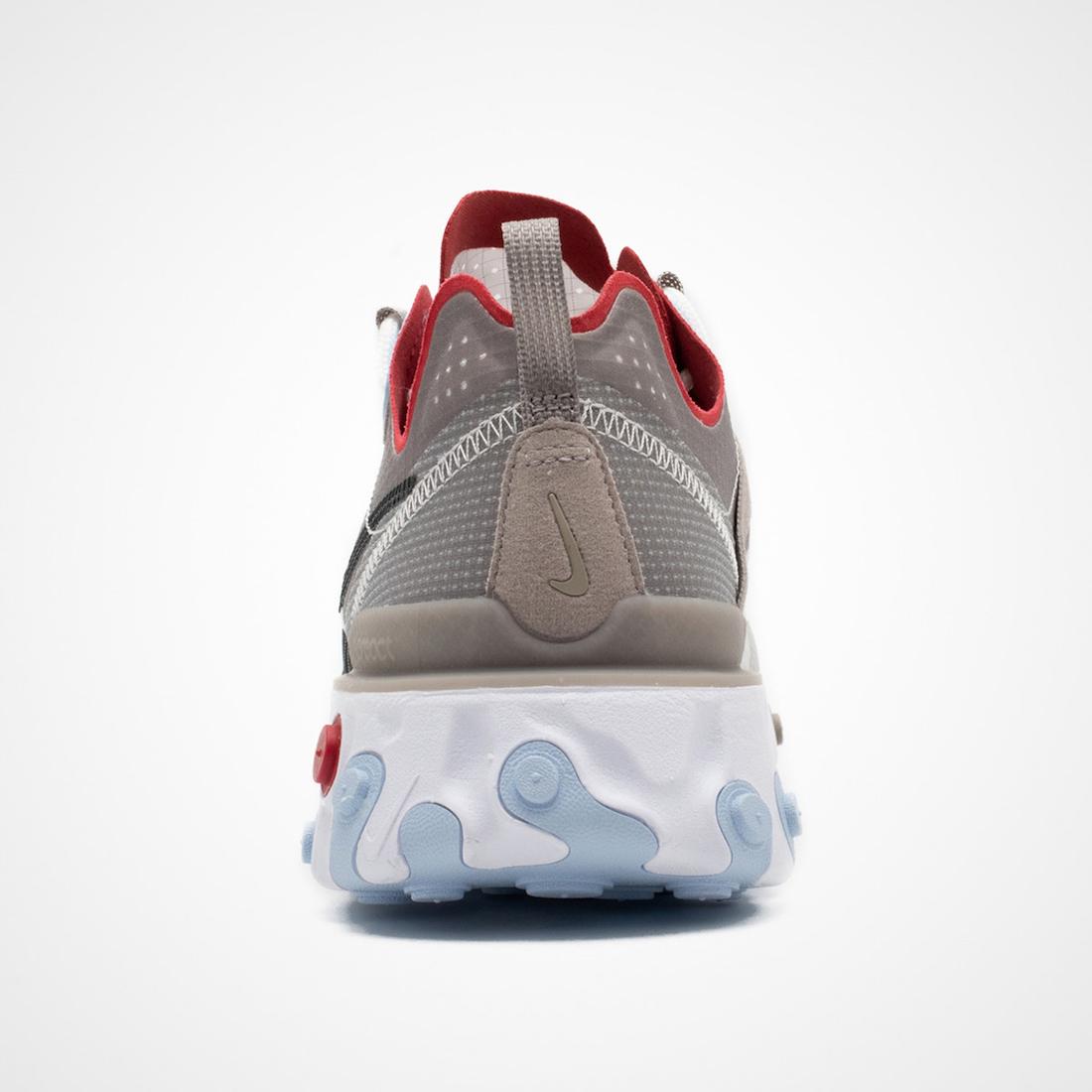 Nike React Element 55 Beige Brown Red Blue CU1466-001 Release Date Info
