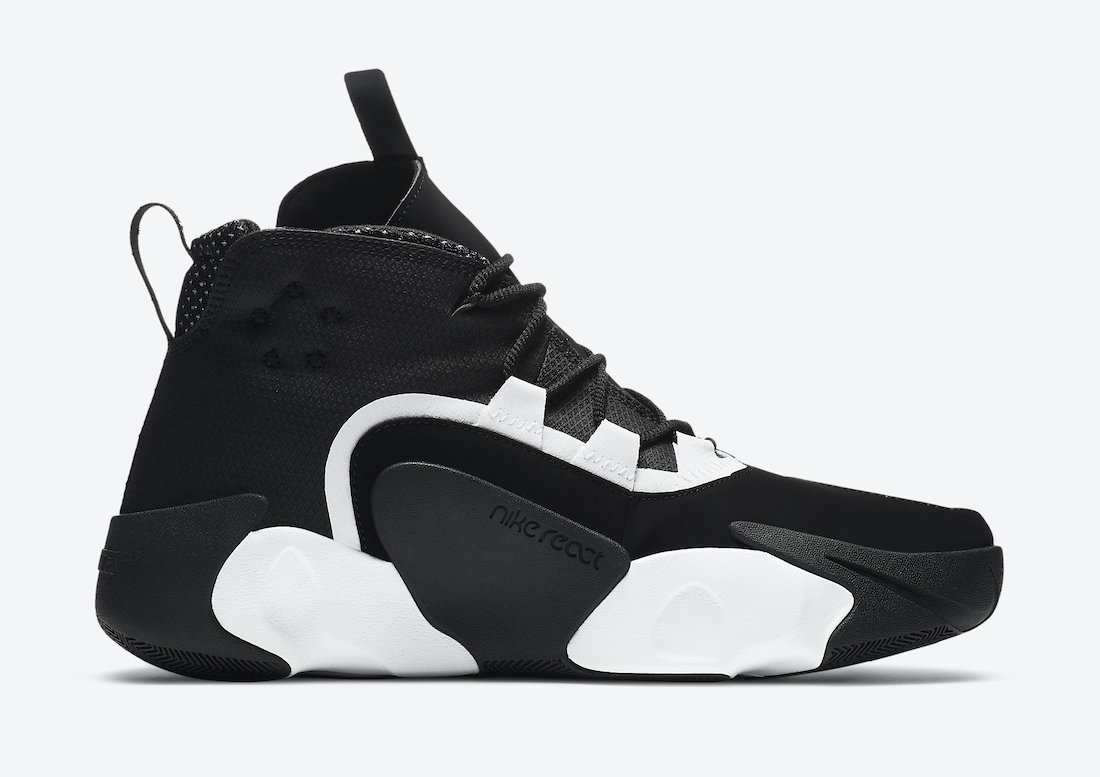 Nike React Frenzy White Black CN0842-100 Release Date Info
