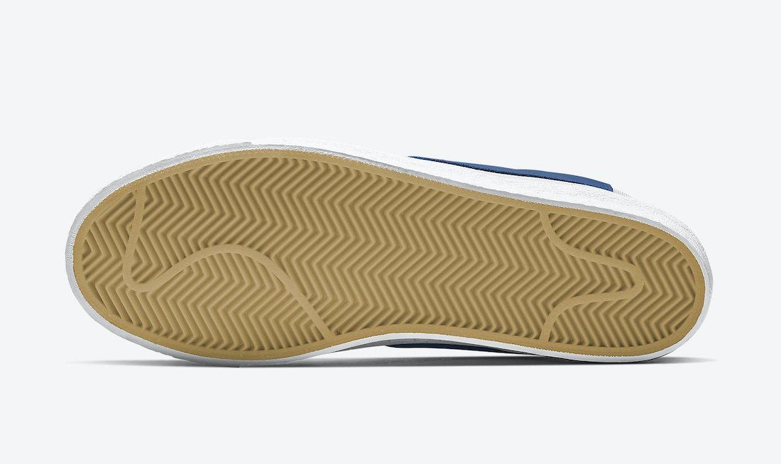 Nike SB Blazer Mid White Blue Gum 864349-107 Release Date Info