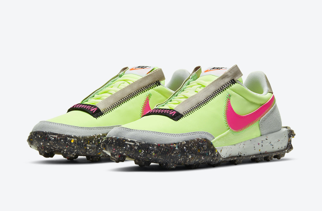 Nike Waffle Racer Crater Barely Volt CT1983-700 Release Date Info