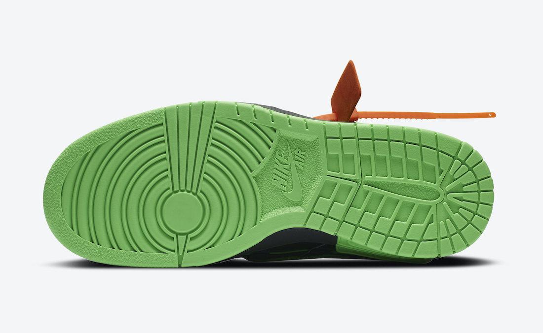 Off-White Nike Air Rubber Dunk Green Strike CU6015-001 Release Date