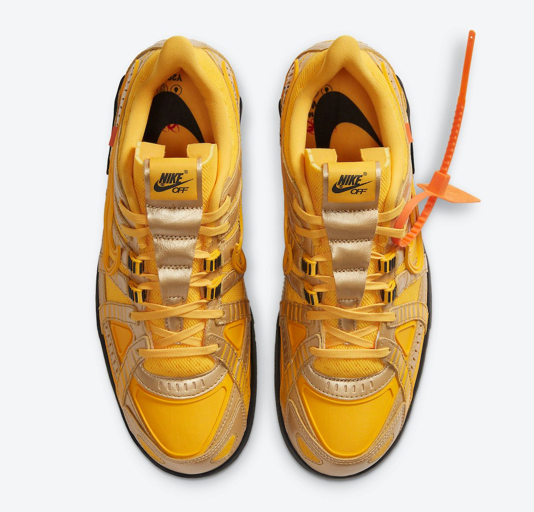 Off-White Nike Air Rubber Dunk University Gold CU6015-700 Release Date