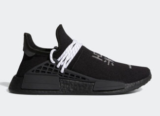 Pharrell adidas NMD Hu Black White GY0093 Release Info