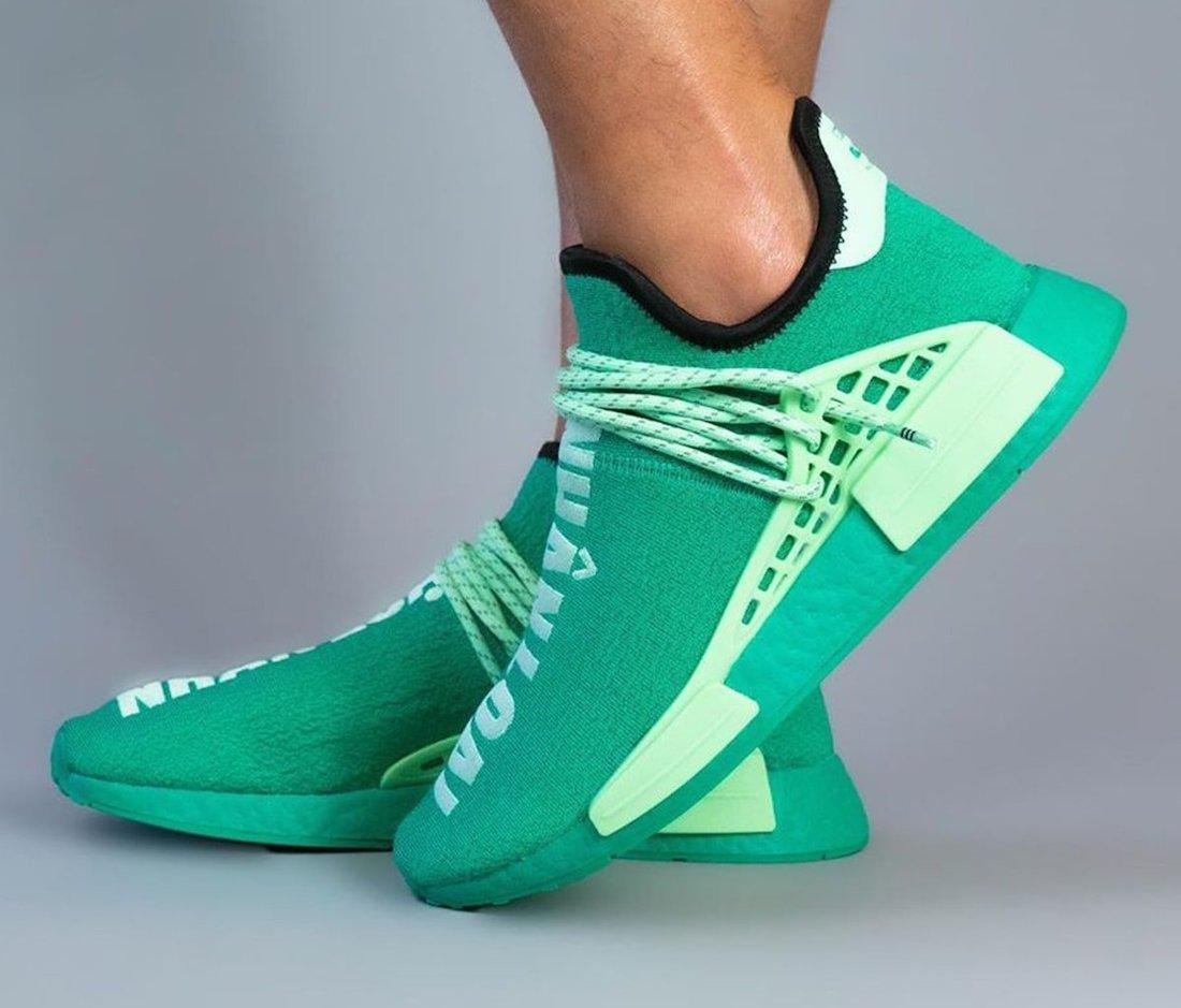 Pharrell adidas NMD Hu Green GY0089 Release Date Info