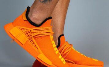 Pharrell adidas NMD Hu Orange GY0095 Release Date Info