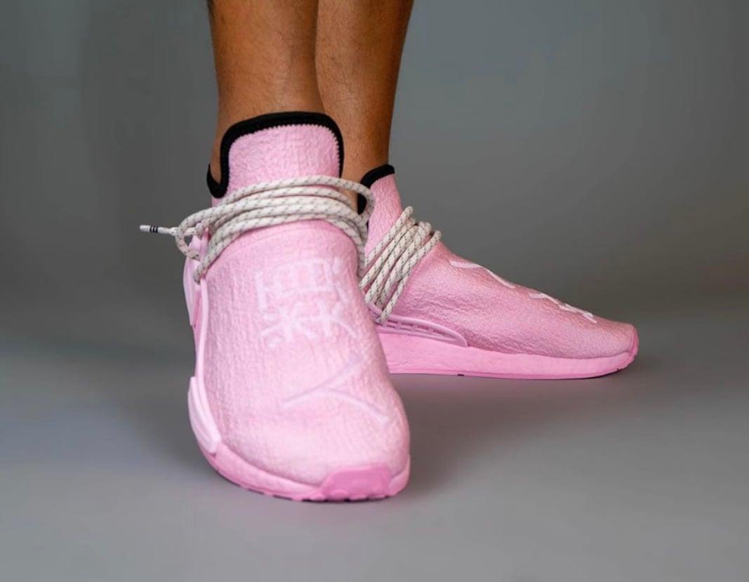 Pharrell adidas NMD Hu Pink GY0088 Release Date Info