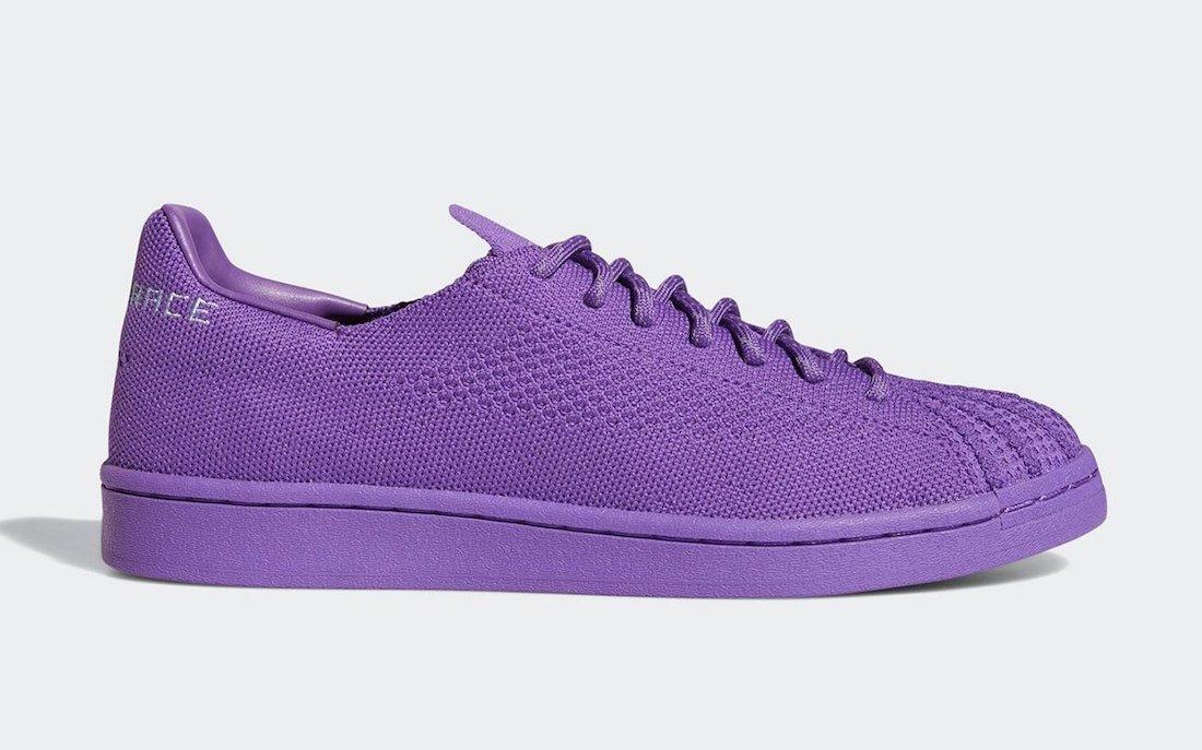 Pharrell adidas Superstar Primeknit Human Racer Purple S42929 Release Date Info