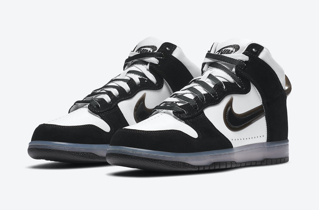 Slam Jam Nike Dunk High Black White DA1639-101 Release Date