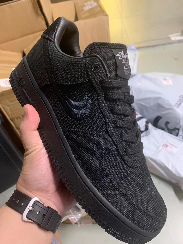 Stussy x Nike Air Force 1 Low Black CZ9084-001 Release Info