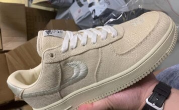Stussy x Nike Air Force 1 Low Fossil
