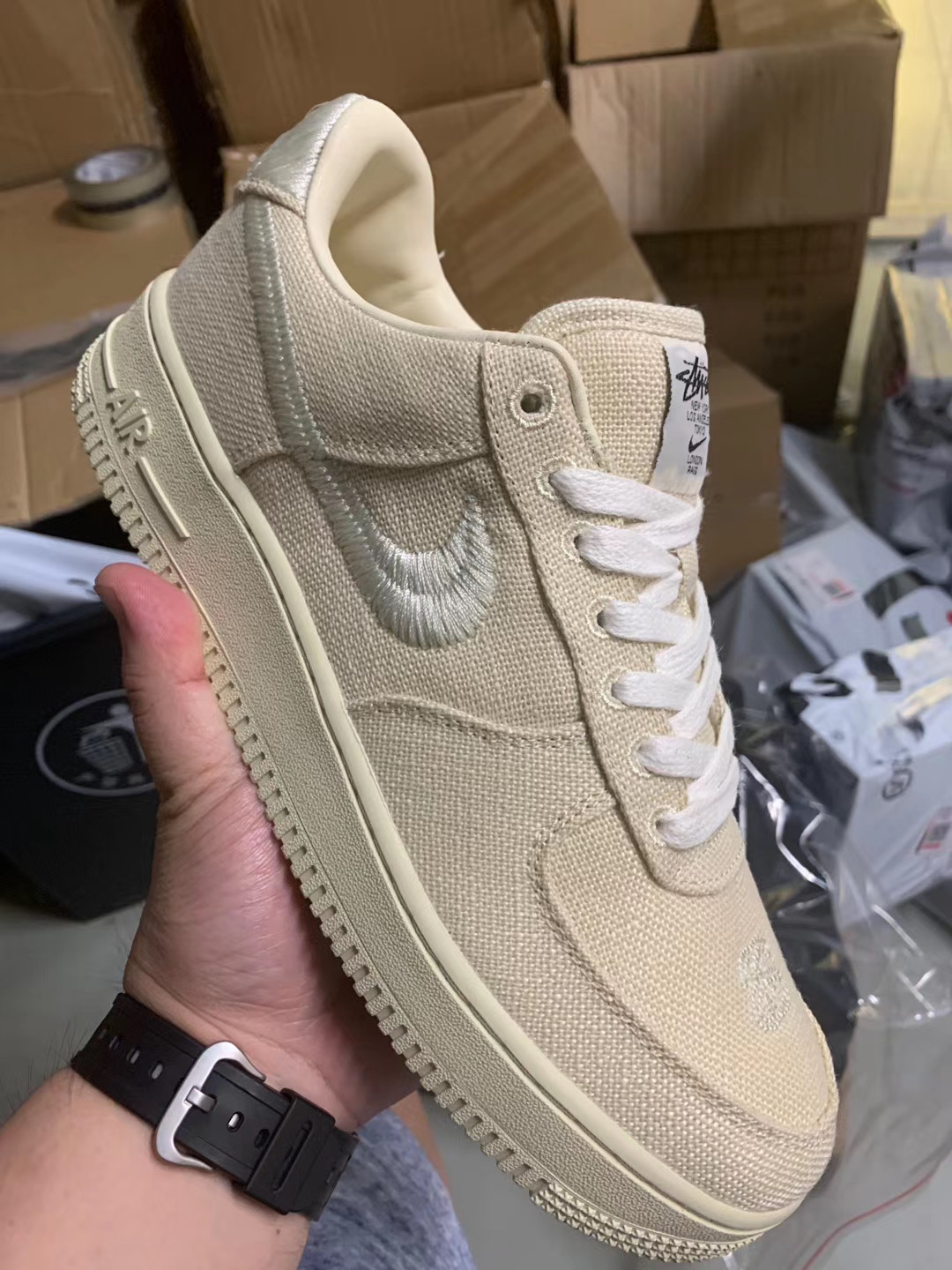 Stussy x Nike Air Force 1 Low Fossil CZ9084-200 Release Info