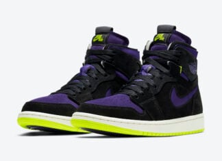 Air Jordan 1 High Zoom Black Court Purple Lemon Venom CT0979-001 Release Date Info