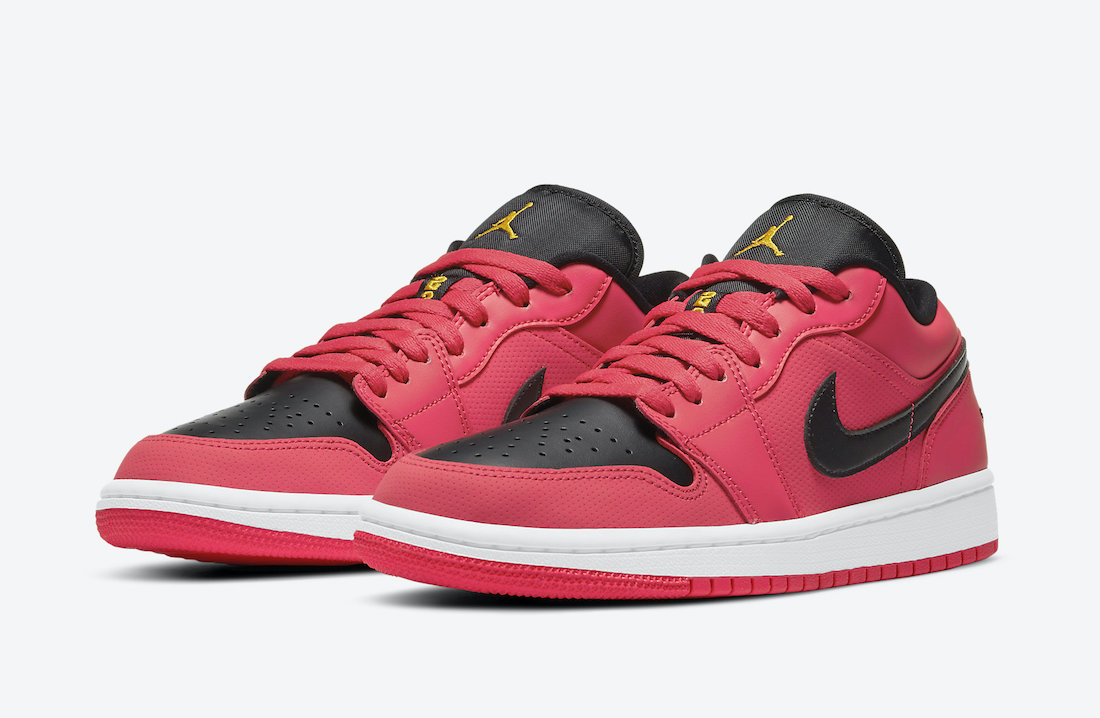 Air Jordan 1 Low Bright Red Black Orange DC0774-600 Release Date Info