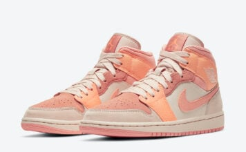 Air Jordan 1 Mid Atomic Orange Terra Blush DH4270-800 Release Date Info