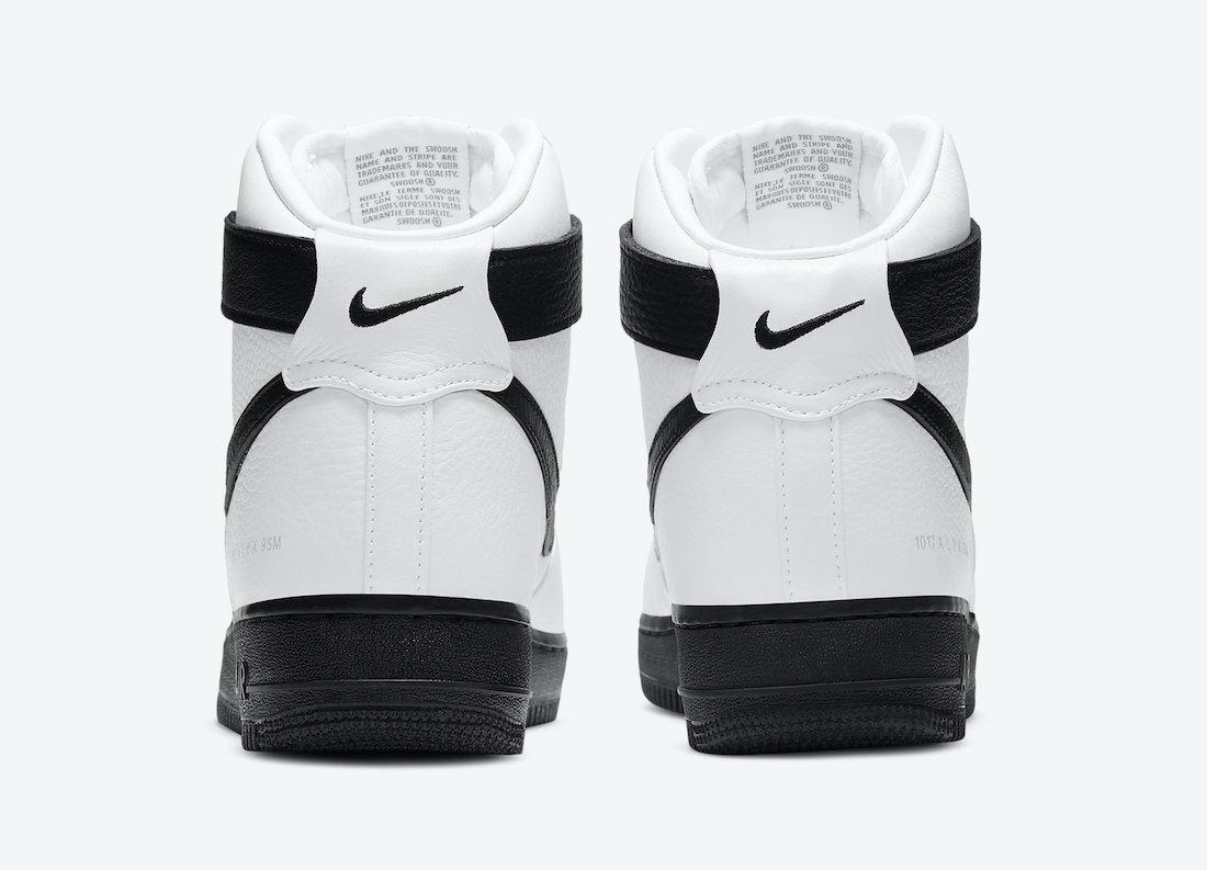 Alyx Nike Air Force 1 High White Black CQ4018-101 Release Date