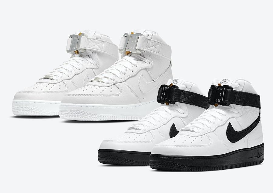 Alyx Nike Air Force 1 High White Black Triple White Release Date