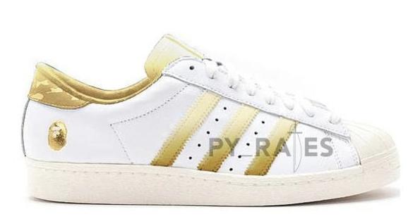 Bape adidas Superstar White Gold 2021 Release Date
