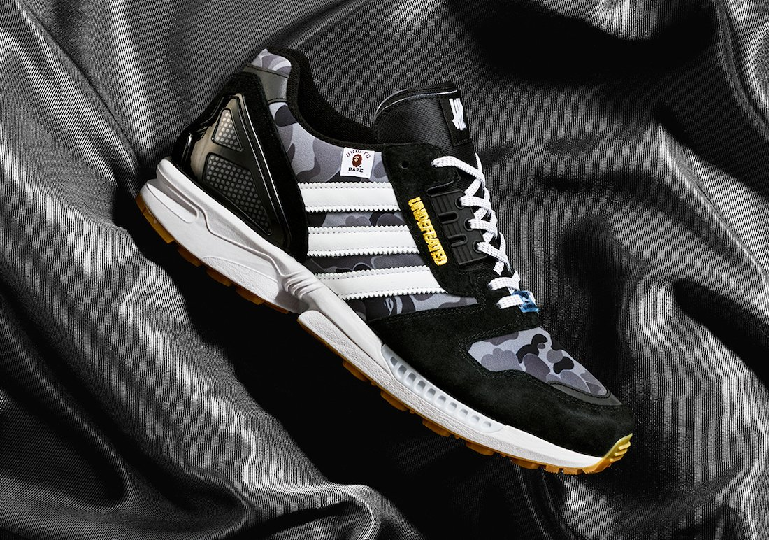 BAPE Undefeated adidas ZX 8000 FY8852 Release Date