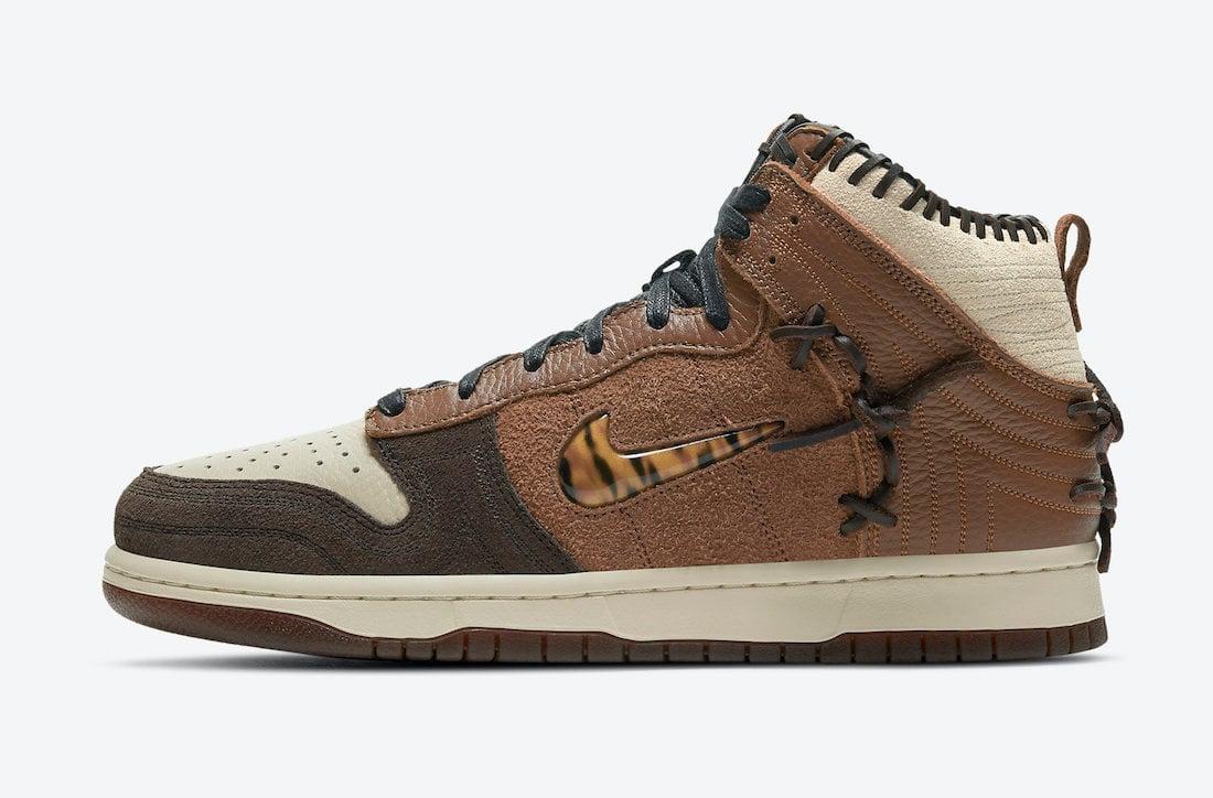 Bodega Nike Dunk High Fauna Brown CZ8125-200 Release Date