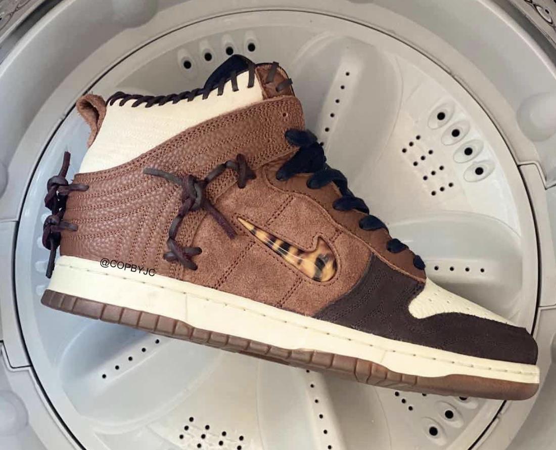 Bodega Nike Dunk High Fauna Brown Rustic Velvet Brown Multi-Color CZ8125-200 Release Date