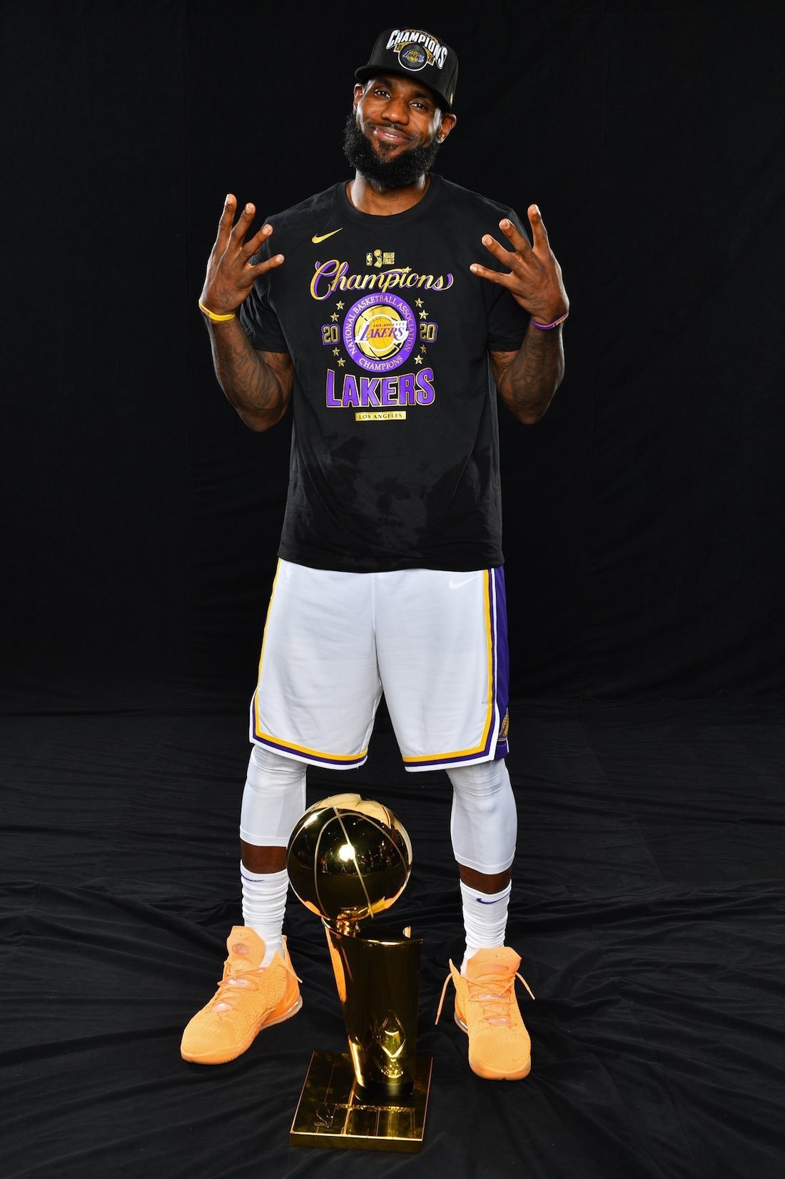 LeBron James Nike LeBron 18 Melon Tint NBA Finals Trophy