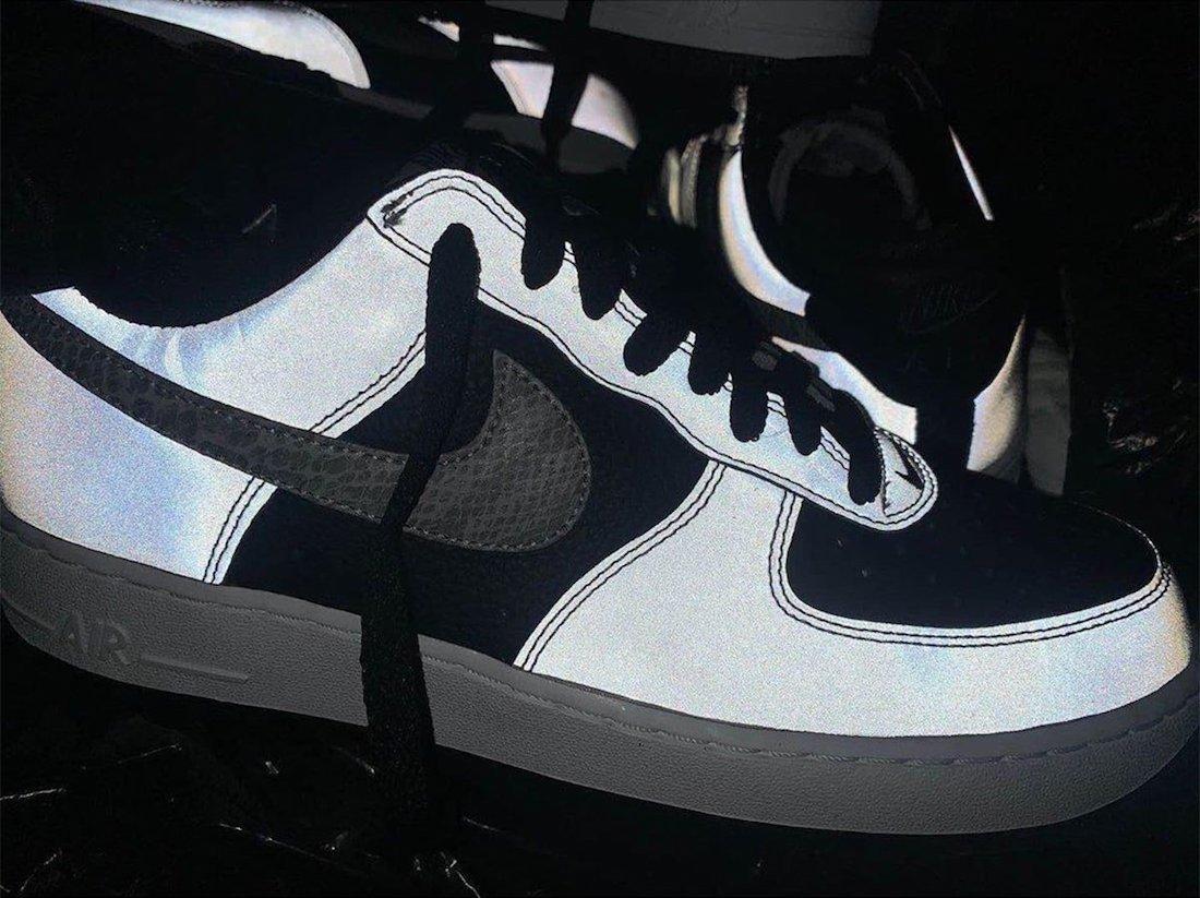 Nike Air Force 1 B 3M Reflective Snake DJ6033-001 2021 Release Date Info