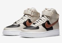 Nike Air Force 1 High Beige Black Copper DB5080-100 Release Date Info
