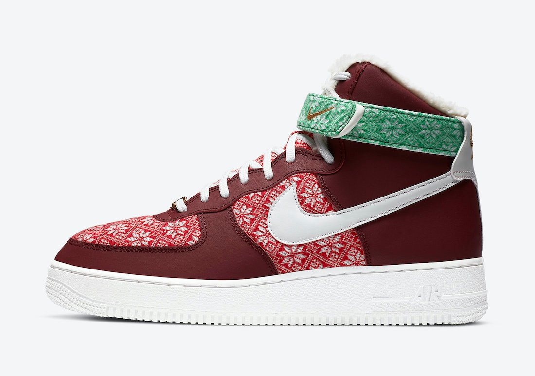 Nike Air Force 1 High Christmas DC1620-600 Release Date Info