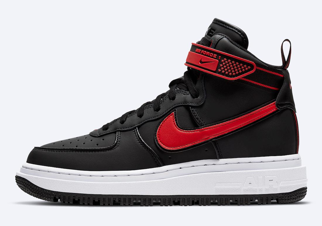 Nike Air Force 1 High Winter Boot Black Red White DA0418-002 Release Date Info