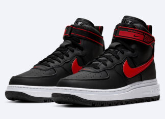 Nike Air Force 1 High Winter Boot Black Red White DA0418-002 Release Date Info