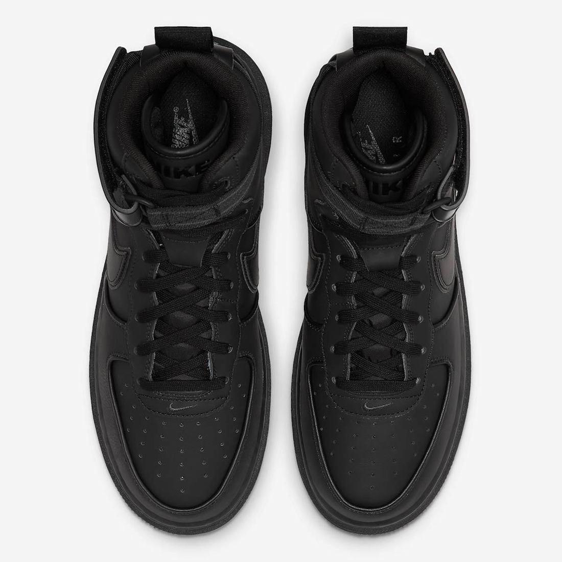 Nike Air Force 1 High Winter Boot Triple Black DA0418-001 Release Date Info