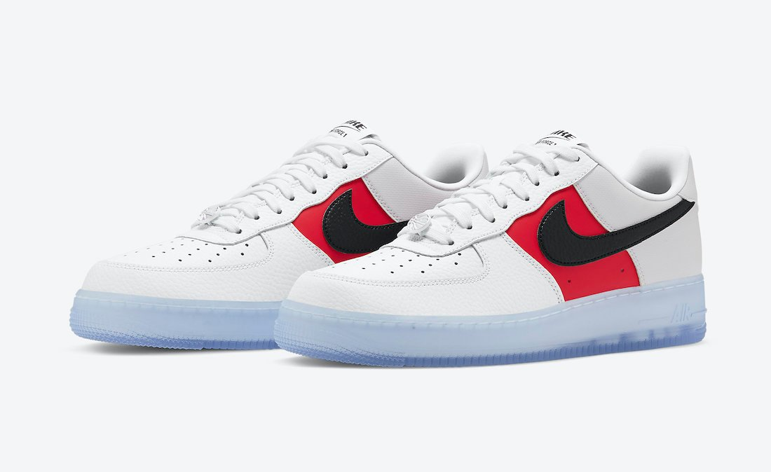 Nike Air Force 1 Low EMB White Black Red CT2295-110 Release Date Info