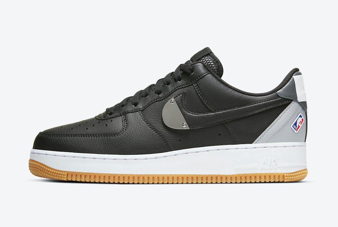 Nike Air Force 1 Low NBA Black Grey CT2298-001 Release Date Info ...